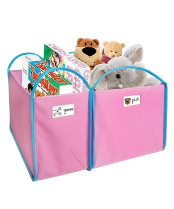 Pink Shelf Bin Set