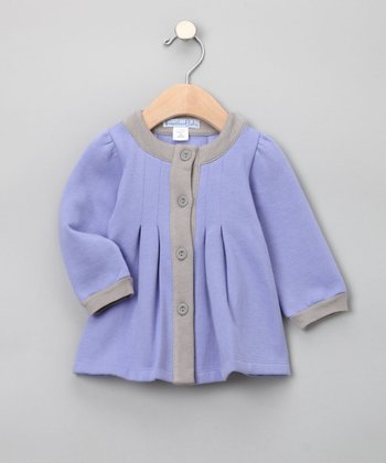 Feather Baby - Violet & Gray Organic Coat 0-3 months