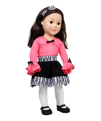 Brown-Haired Pink Dress Doll