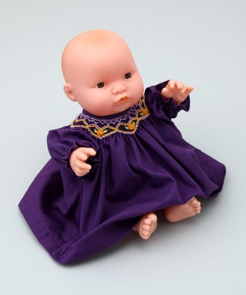 10'' Doll with Purple Bishop Dress