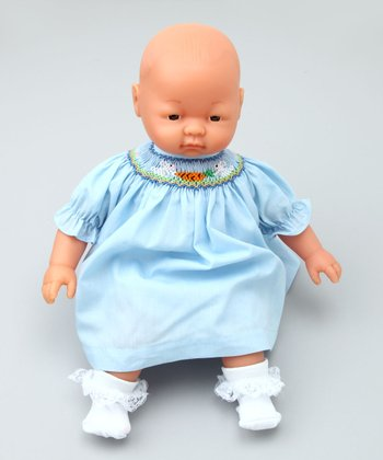 14'' Doll with Light Blue Bishop Dress