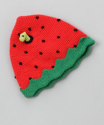 Strawberry Crochet Beanie