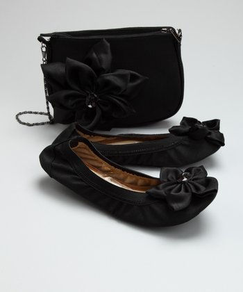 Ragg Footwear Black Dawn Ballet Flat