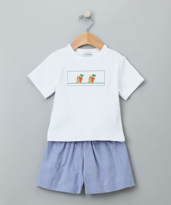 Blue & White Bunny Set - Infant