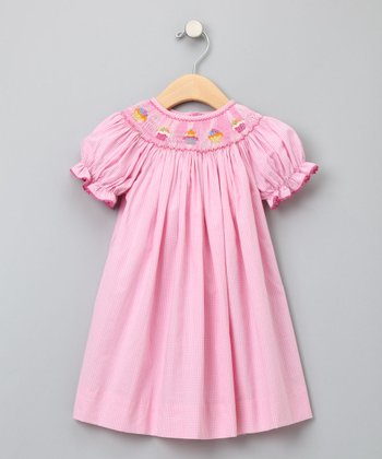 Pink Cupcake Short-Sleeve Bishop Dress - Infant, Toddler & Girls