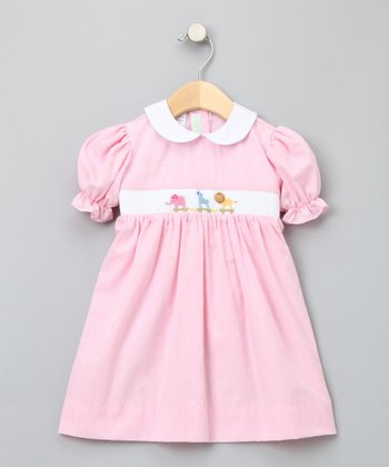 Pink Gingham Toy Parade Bishop Dress - Infant