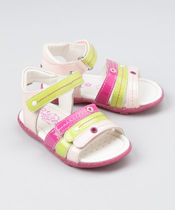 Baby Pink & Lime Luty Sandal - Girls