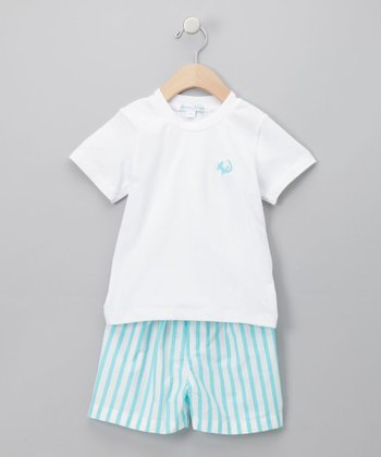 Teal River Shorts Set - Infant, Toddler & Kids