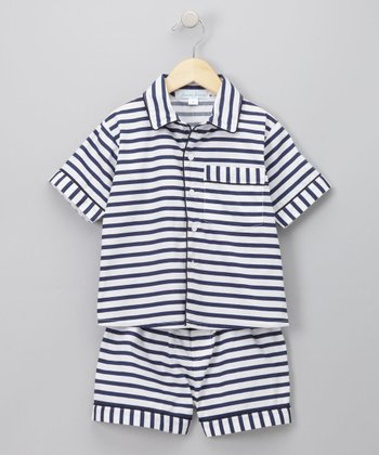 Navy Waverly Lounge Set - Infant, Toddler & Kids