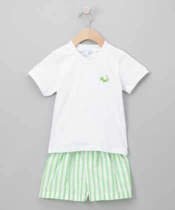 Jeanine Johnsen - Lime River Shorts Set 2T