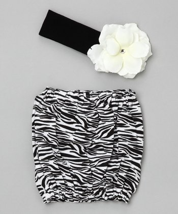 Jamie Rae Hats - Black & White Zebra Pipette Set 6-12 months