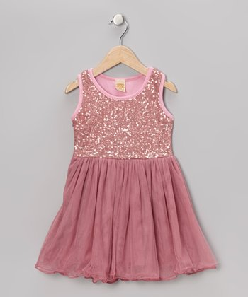 Hot Pink Sequin Tutu Dress - Toddler