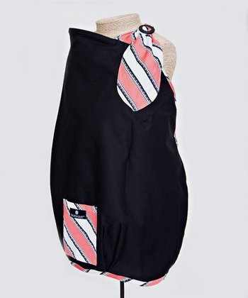 Balboa Baby - Black & Coral Trim Nursing Cover