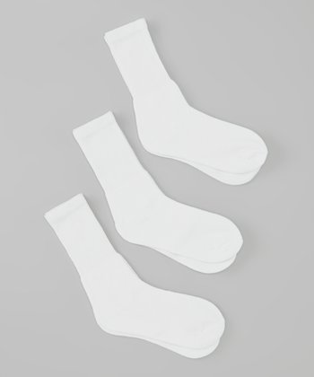 White Crew Socks Set