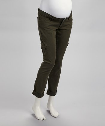 Brown Westbourne Layne Cargo Under-Belly Maternity Jeans