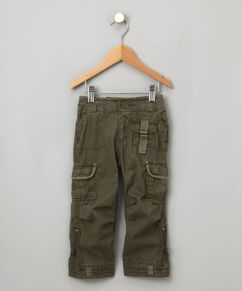 Olive Green Doyle Cargo Pants - Boys