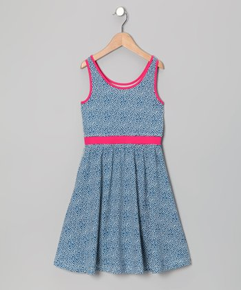 Blue Tula Dot Carla Organic Dress - Girls