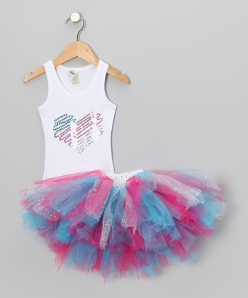 Pink Sequin Heart Tank & Tutu - Infant, Toddler & Girls