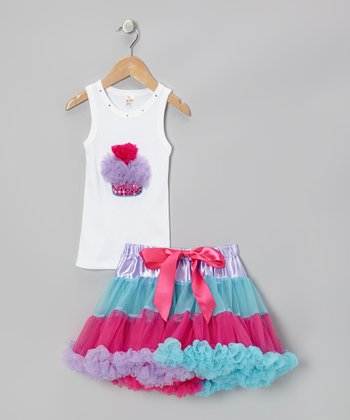 Purple & Pink Cupcake Tank & Pettiskirt - Infant, Toddler & Girls