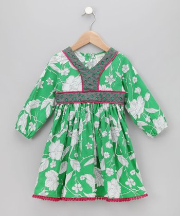 Cupcakes & Pastries Green Cinnamon Apple Dress
