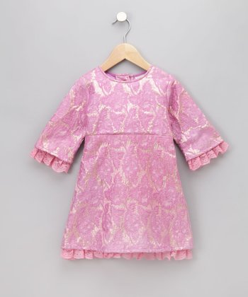 Pink Brocade Dress - Infant, Toddler & Girls