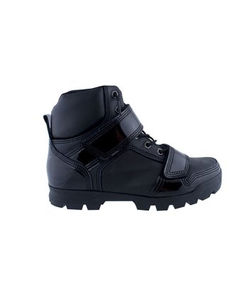 Black & Black Patent Dio Mid Shoe - Toddler