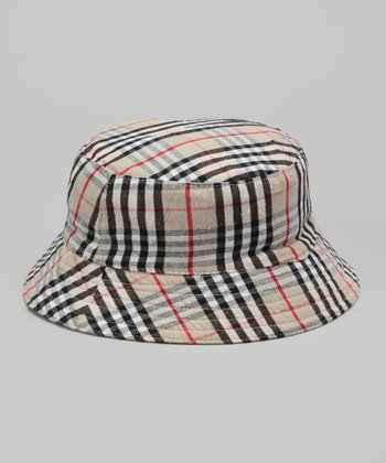 Tan Plaid Bucket Hat