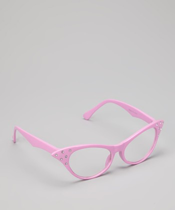Pink Rhinestone Retro Glasses