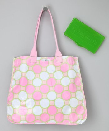 Pink Tag Tote & Wipes Case