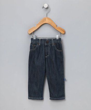 Boy's Dark Wash Boot Cut Jeans - Toddler