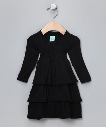 Midnight Ruffle Dress - Infant & Toddler
