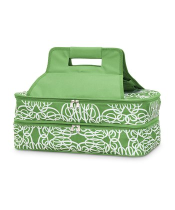 Green Classic Curlz Double Casserole Dish Carrier