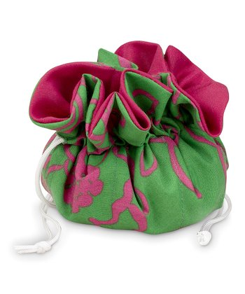 Pink & Green Camelot Quilted Jewelry Roll