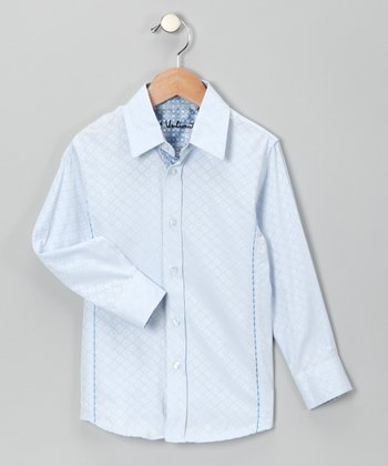 Blue Propeller Hat Button-Up - Boys