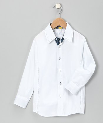 White Distinguished Button-Up - Boys