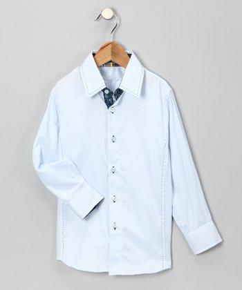 Blue Debonair Button-Up - Boys