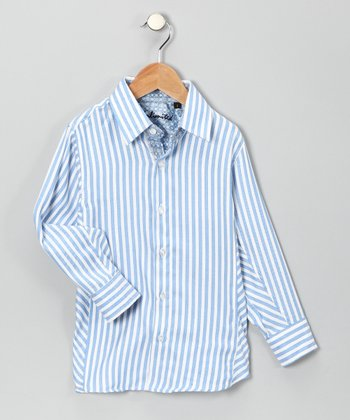 Blue Brilliant Button-Up - Boys