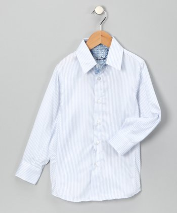 Blue Head of the Class Button-Up - Boys