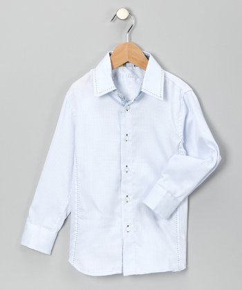 Blue Teacher's Pet Button-Up - Boys