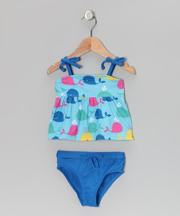 Blue Whale Tankini - Infant & Toddler