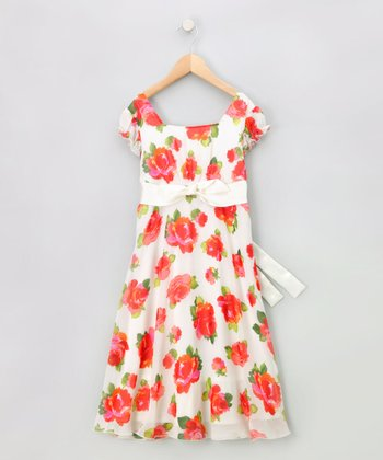 Ivory Rose Bow Dress