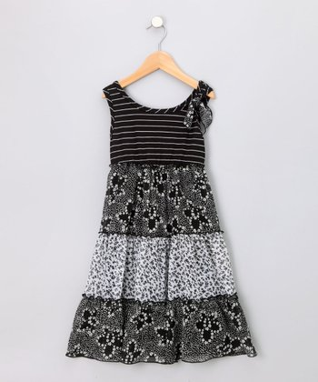 Black & White Twin Print Sundress