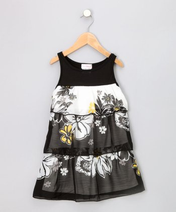 Black & White Tiered Sundress