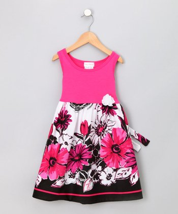 Fuchsia Flower Sundress