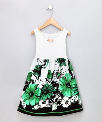 Green Flower Sundress