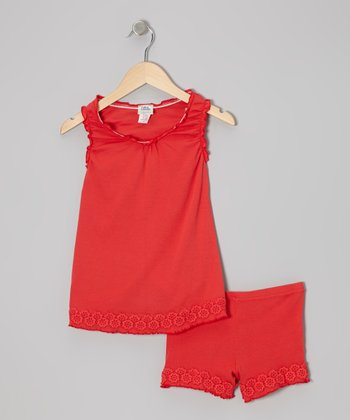 Sunset Rosette Top & Shorts - Toddler & Girls