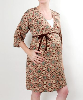 Cozy Maternity V-Neck Dress