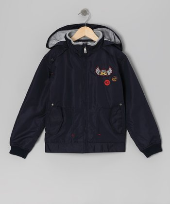 Navy Power On Wheels Jacket - Boys