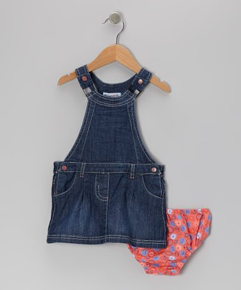 Denim Tweetie Jumper & Coral Diaper Cover - Infant & Toddler