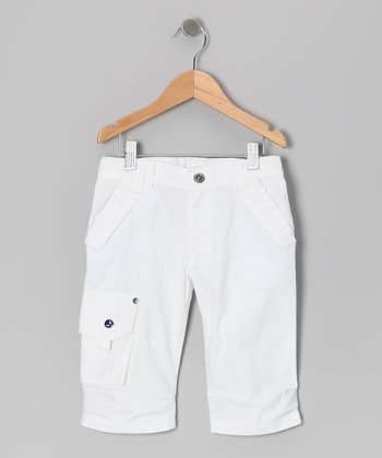 White Catamaran Jam Shorts - Boys